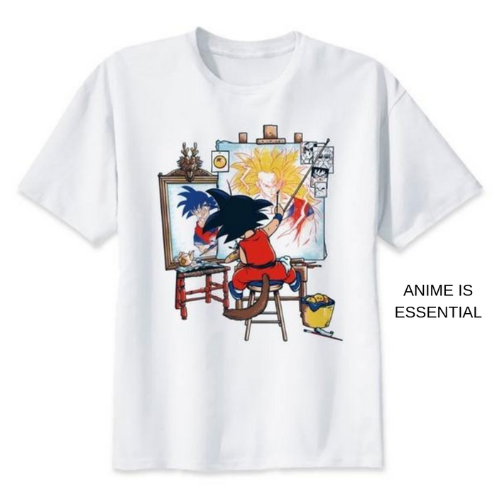 Dragon Ball T- Shirts goku painting