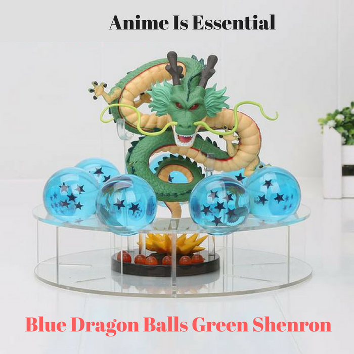 Green Shenron With Blue Dragon Balls
