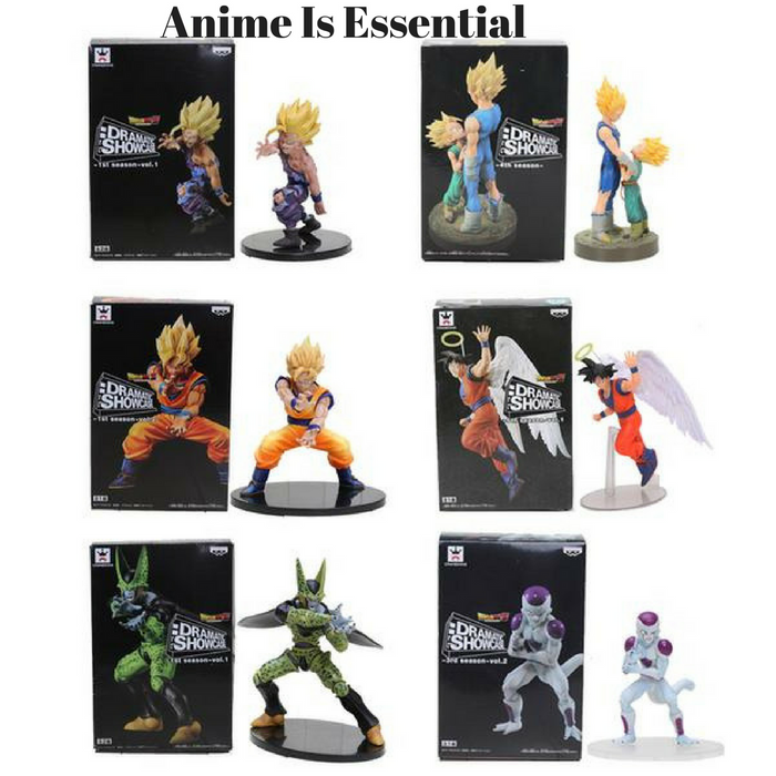 Dramatic showcase figures