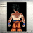 Goku's Transformations Silk Canvas Poster goku black background