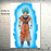 Goku's Transformations Silk Canvas Poster goku ssgss aura white background