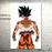 Goku's Transformations Silk Canvas Poster goku white background