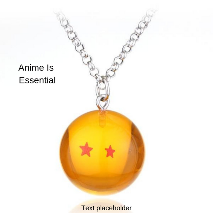 2 Star Dragon Ball Necklace