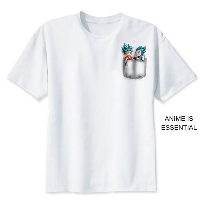 Dragon Ball T- Shirts tiny goku and vegeta ssgss