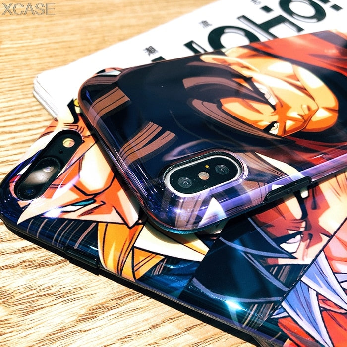 Cartoon Angry Dragon Ball Super Transformed Big Collection Phone Case for iPhone X XS Max XR 6 6S 7 8 Plus Goku Blu-ray Cover