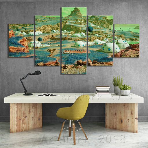 The Planet Namek 5 Or 3 Piece Canvas Art