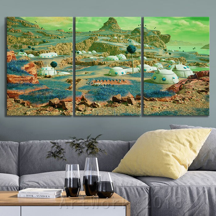 Dragon Ball Namek World Game Scene Landscape Frameless Painting JUMP FORCE Video Games Art Canvas Paintings Wall Art Home Decor