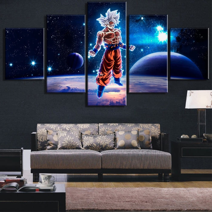 Goku Ultra instinct universe 5 piece Canvas art