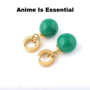 Green x yellow Potara earings and ring