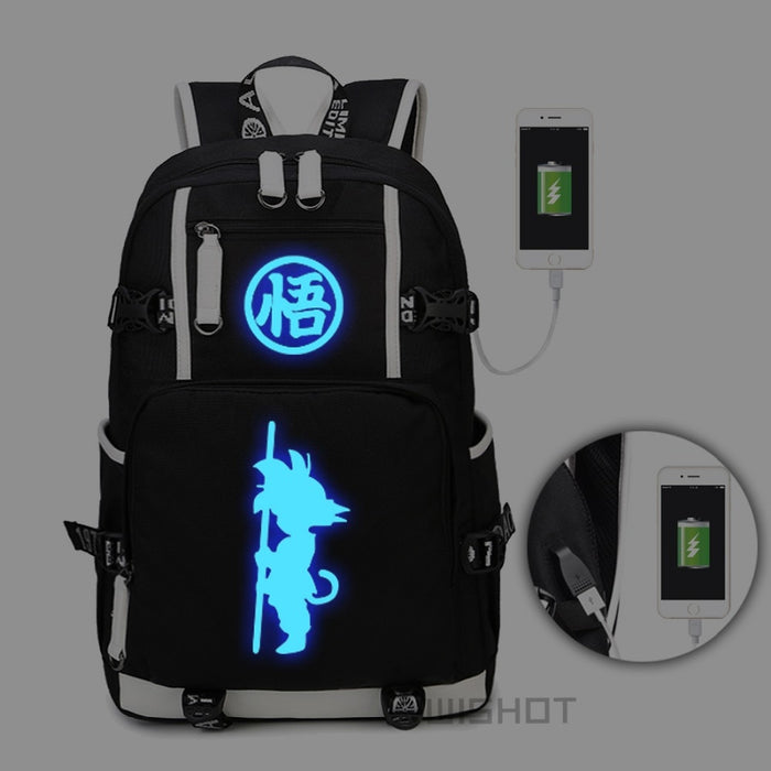 The Dragon Ball Luminous USB Charging Backpack