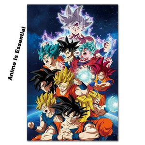 Dragon Ball Super Silk Canvas prints