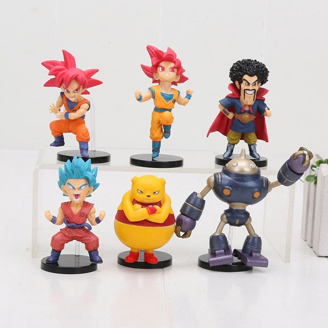6pcs/set Dragon Ball WCF Figure