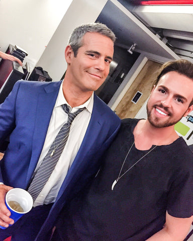 Andy Cohen and Chance Okonski on Bravo TV