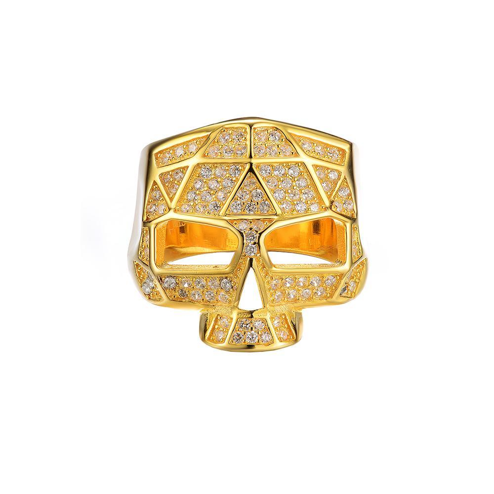 Facet Skull Ring (More Colors)