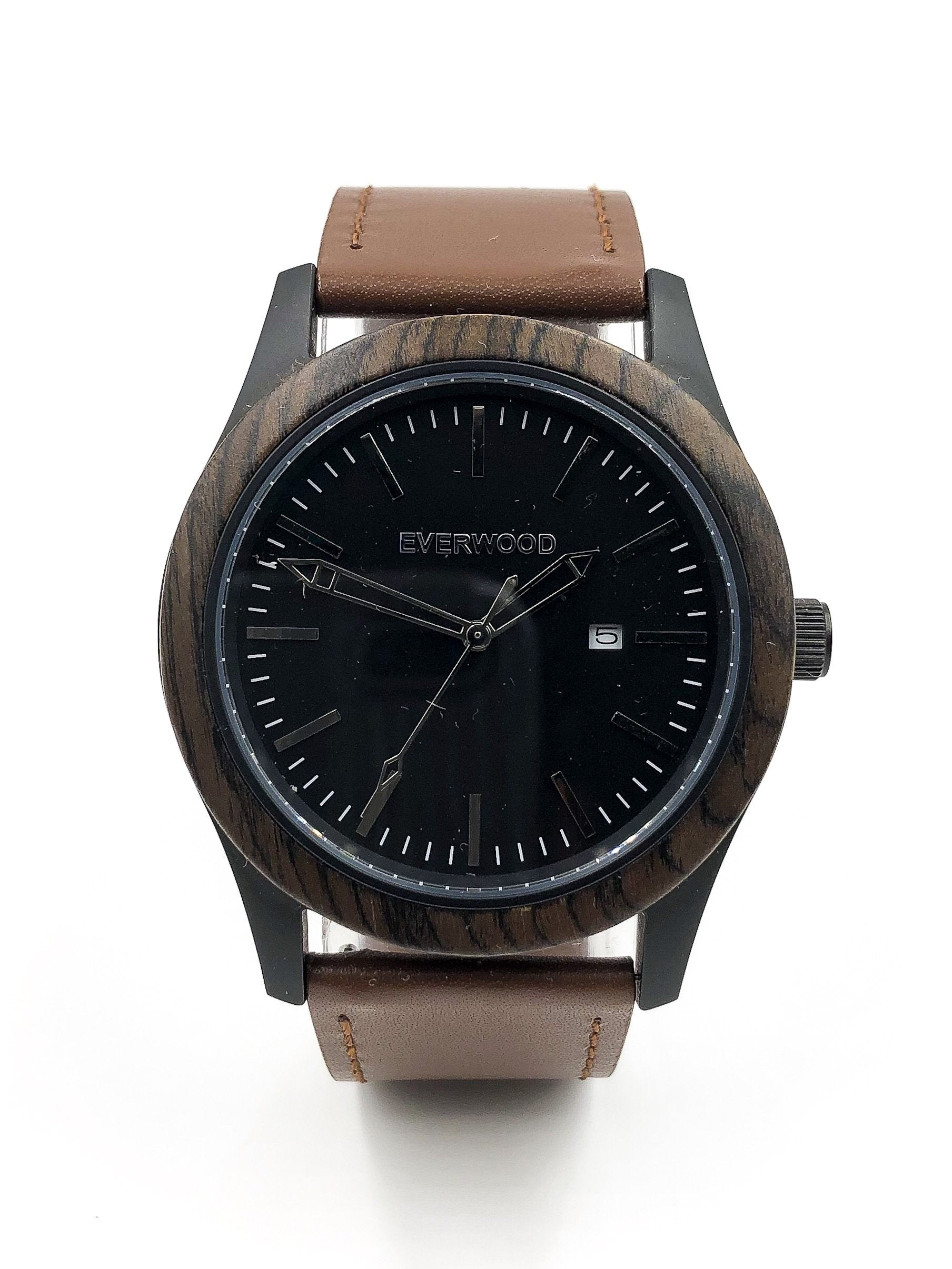 Walnut Leather Watch
