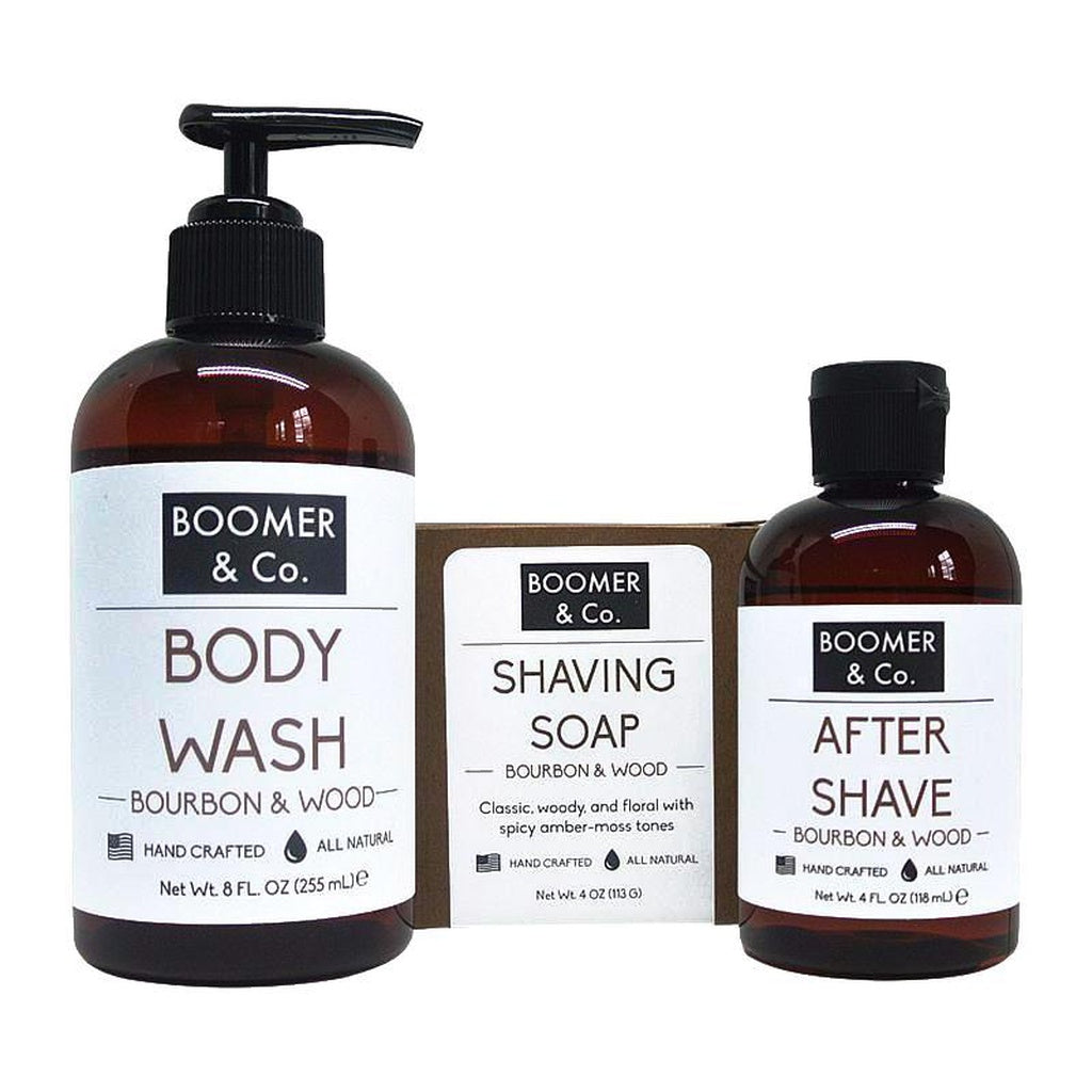 Bourbon + Sandalwood Grooming Kit