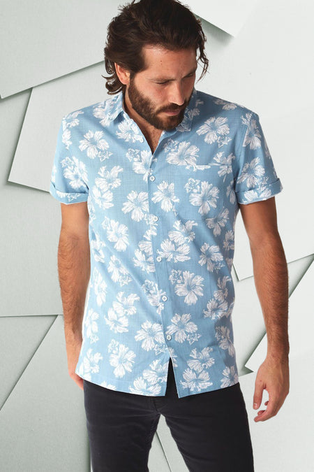 Men's summer button down shirts at KIE.