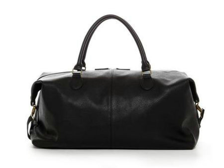 Men's Vegan Leather Duffel Bag