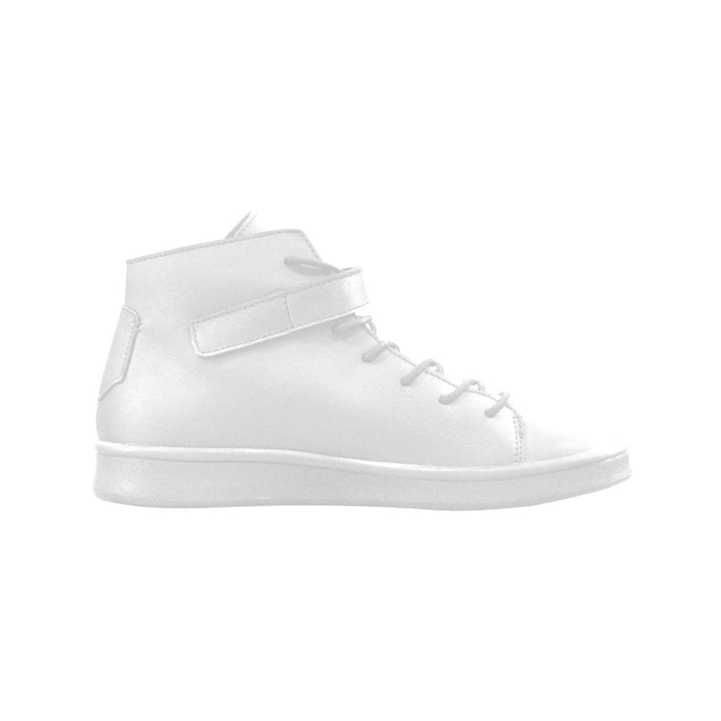 Leather White High Top Shoes