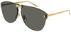 GUCCI Rimless Aviator Sunglasses