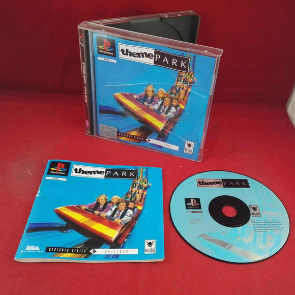 Theme Park Sony Playstation 1 (PS1) Game