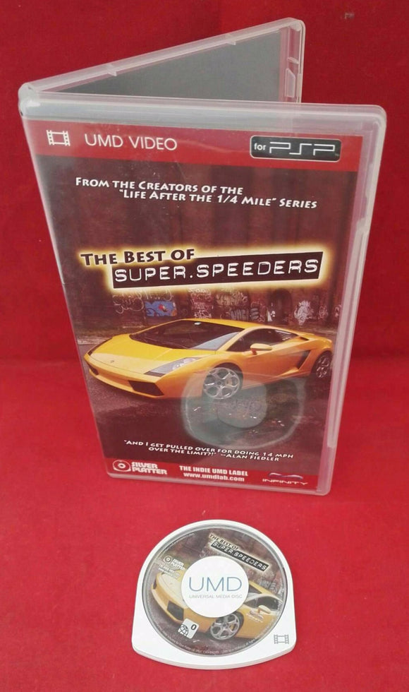 The Best of Super Speeders Sony PSP RARE UMD