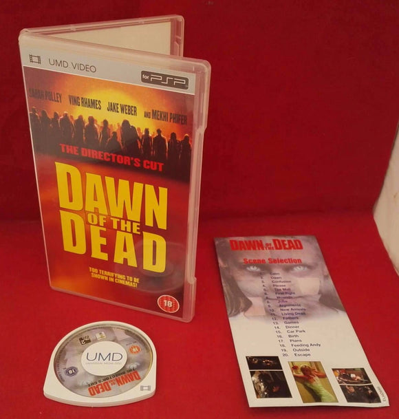 Dawn of the Dead the Director's Cut Sony PSP UMD