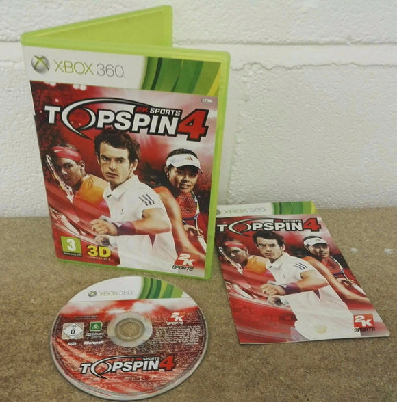 Top Spin 4 Microsoft Xbox 360 Game