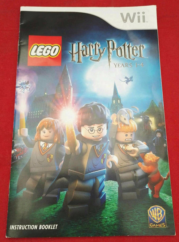 Lego Harry Potter Years 1-4 Nintendo Wii Spare Manual Only