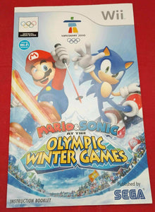 Mario & Sonic at the Winter Olympic Games Nintendo Wii Spare Manual Only