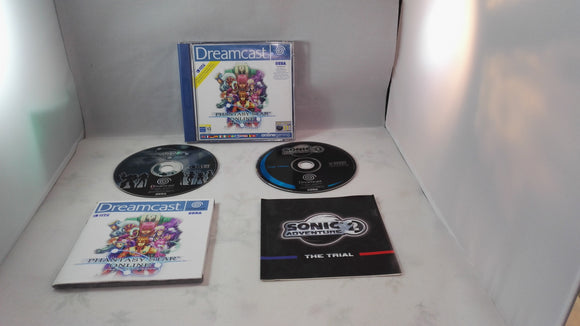 Phantasy Star Online with Sonic adventure 2 trial disc (Sega Dreamcast) game