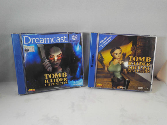 Tomb Raider: Chronicles & Last Revelations (Sega Dreamcast) game bundle