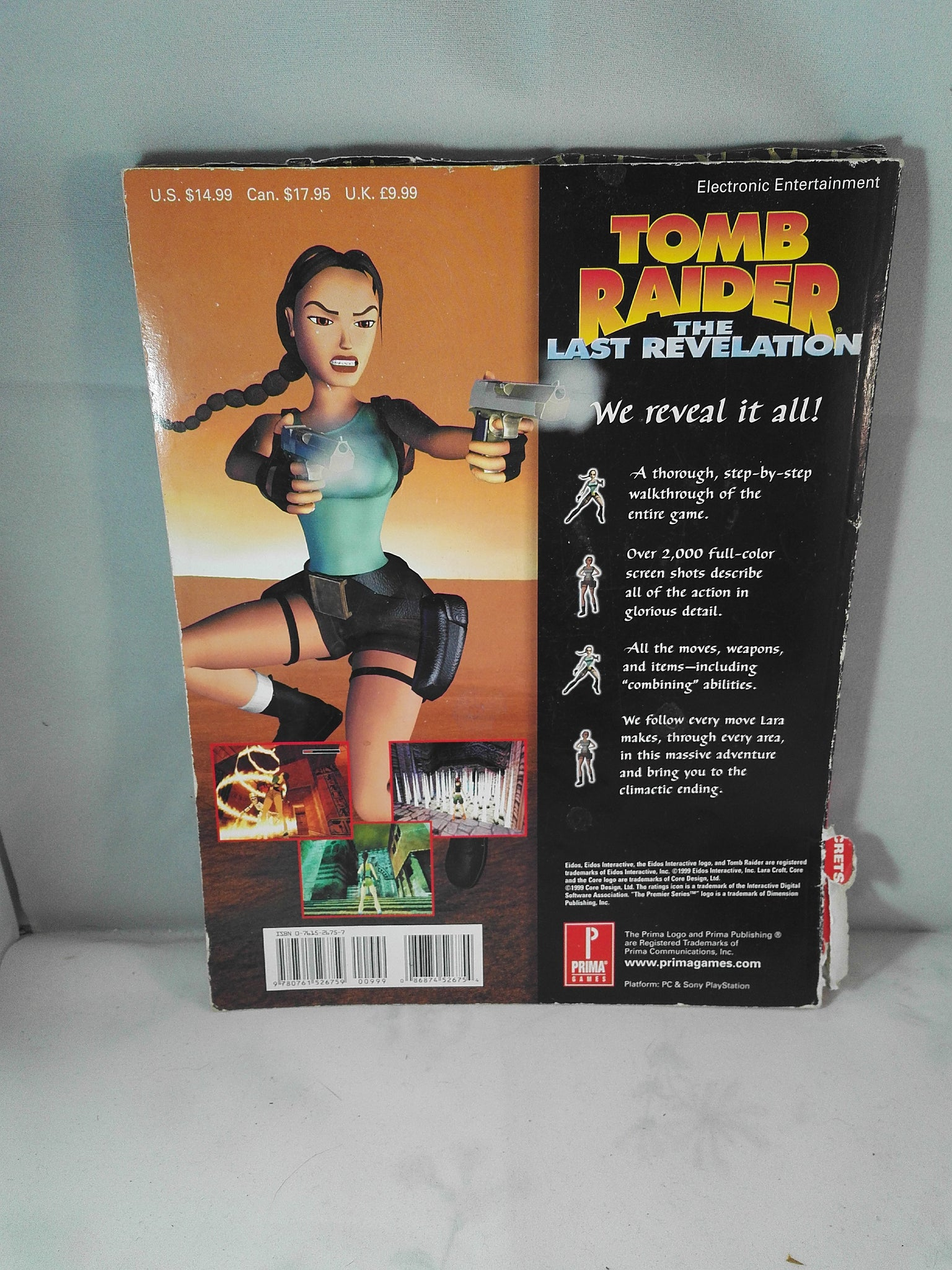 Tomb Raider The Last Revelation Prima S Official Strategy Guide
