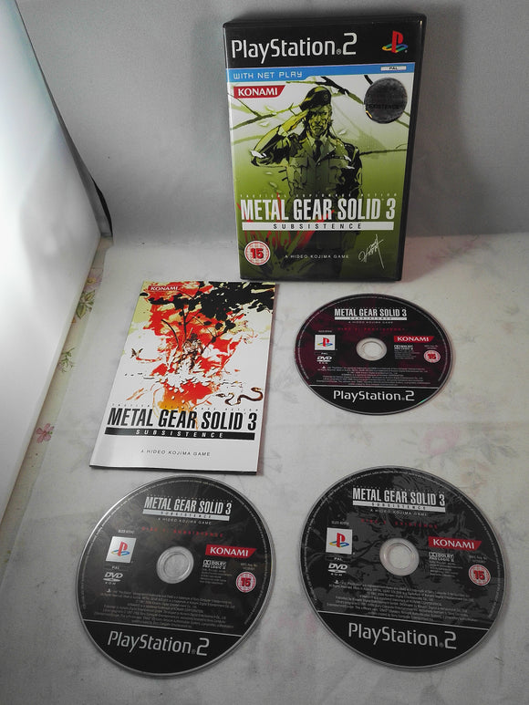 Metal Gear solid 3 Subsistence PS2 (Sony Playstation 2) game