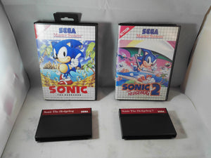 Sonic The Hedgehog 1 & 2 (Sega Master System) Game bundle