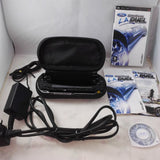 Sony Playstation Portable PSP console with charger, case and Ford Street Racing Duel