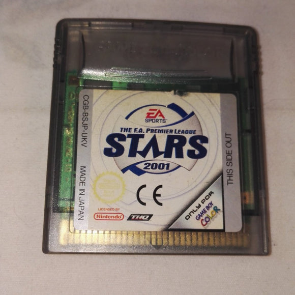 The F.A. Premier League Stars 2001 (Nintendo gameboy Color) Game