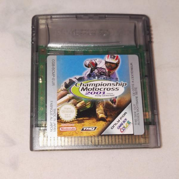 Championship Motocross 2001 Featuring Ricky Carmichael (Nintendo Gameboy Color) Game
