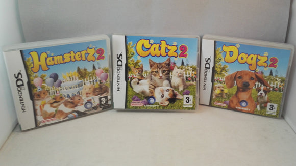 Dogs 2, Catz 2 & Hamsterz 2 (Nintendo DS) game bundle