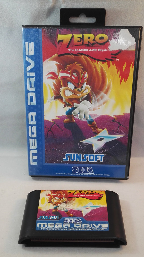 Zero the Kamikaze squirrel Sega Mega Drive RARE game