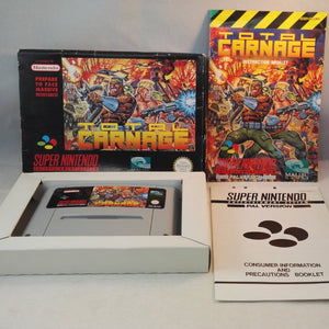 Total Carnage Super Nintendo (SNES) Game