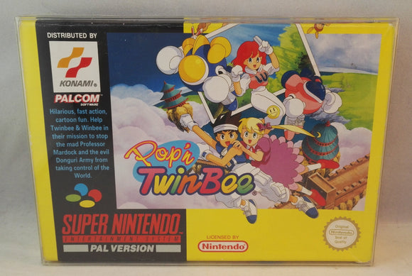 Pop 'n' Twinbee SNES (Super Nintendo Entertainment System) Boxed complete VGC