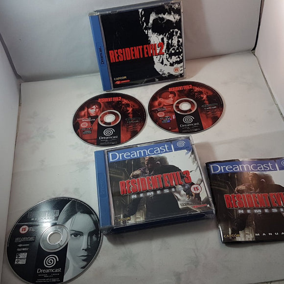 Resident evil 2 & 3 (Sega Dreamcast) Game bundle
