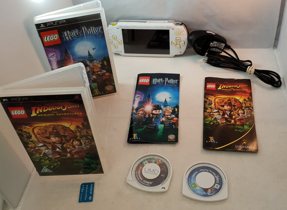 PSP Console with Lego Harry Potter & Indiana Jones. Includes 1 GB Memory Card