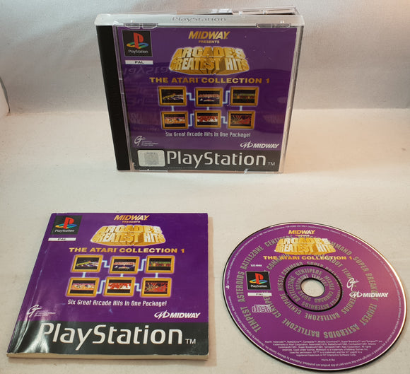 Arcade's Greatest Hits the Atari Collection 1 Sony Playstation 1 (PS1) Game