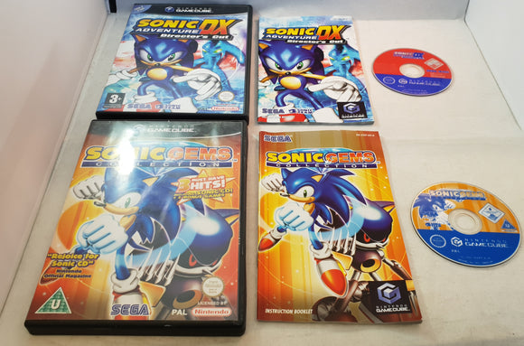 Sonic Adventure DX & Sonic Gems  Collection Nintendo GameCube Game Bundle