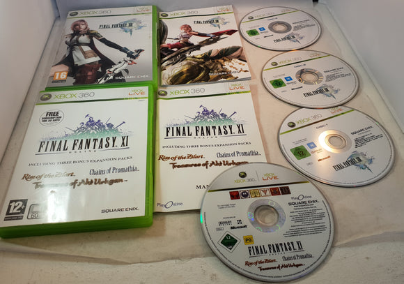 Final Fantasy XI & XIII Microsoft Xbox 360 Game Bundle