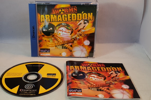 Worms Armageddon (Sega Dreamcast) game