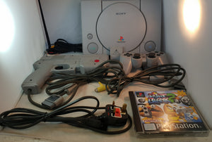 Playstation 1 SCPH 9002 Console with Point Blank 2 and Namco Gun Includes Memory Card