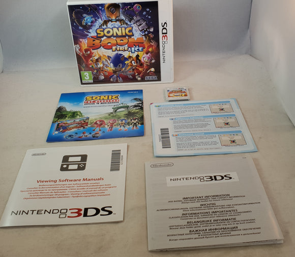 Sonic Boom Fire & Ice Nintendo 3DS Game